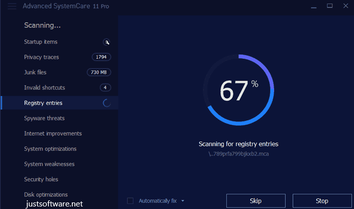 Advanced SystemCare 12.1.0.210 Pro Crack + License Key Download