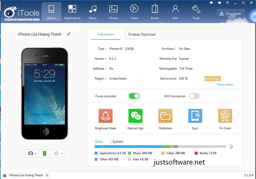 iTools 4.4.5.8 Crack + Keygen Free Download [Latest]