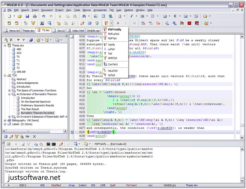 WinEdt 10.3 Crack + Registration Code Download 2020