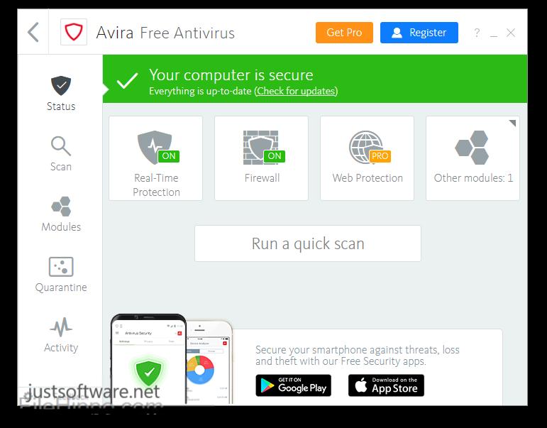 Avira Antivirus Pro 15.0.2008.1920 Crack + Serial Key Free Download