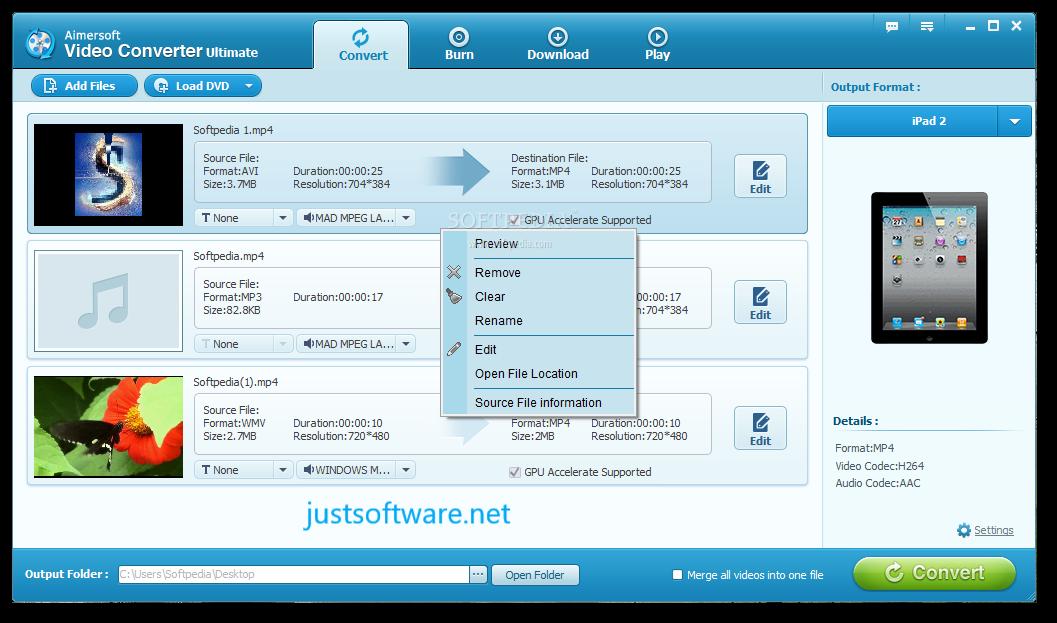 Aimersoft Video Converter Ultimate 11.7.4.3 Crack + Keygen Download